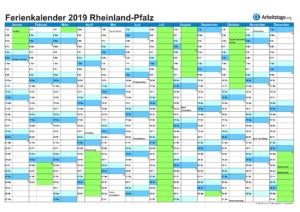 Ferienkalender 2019 Rheinland-Pfalz