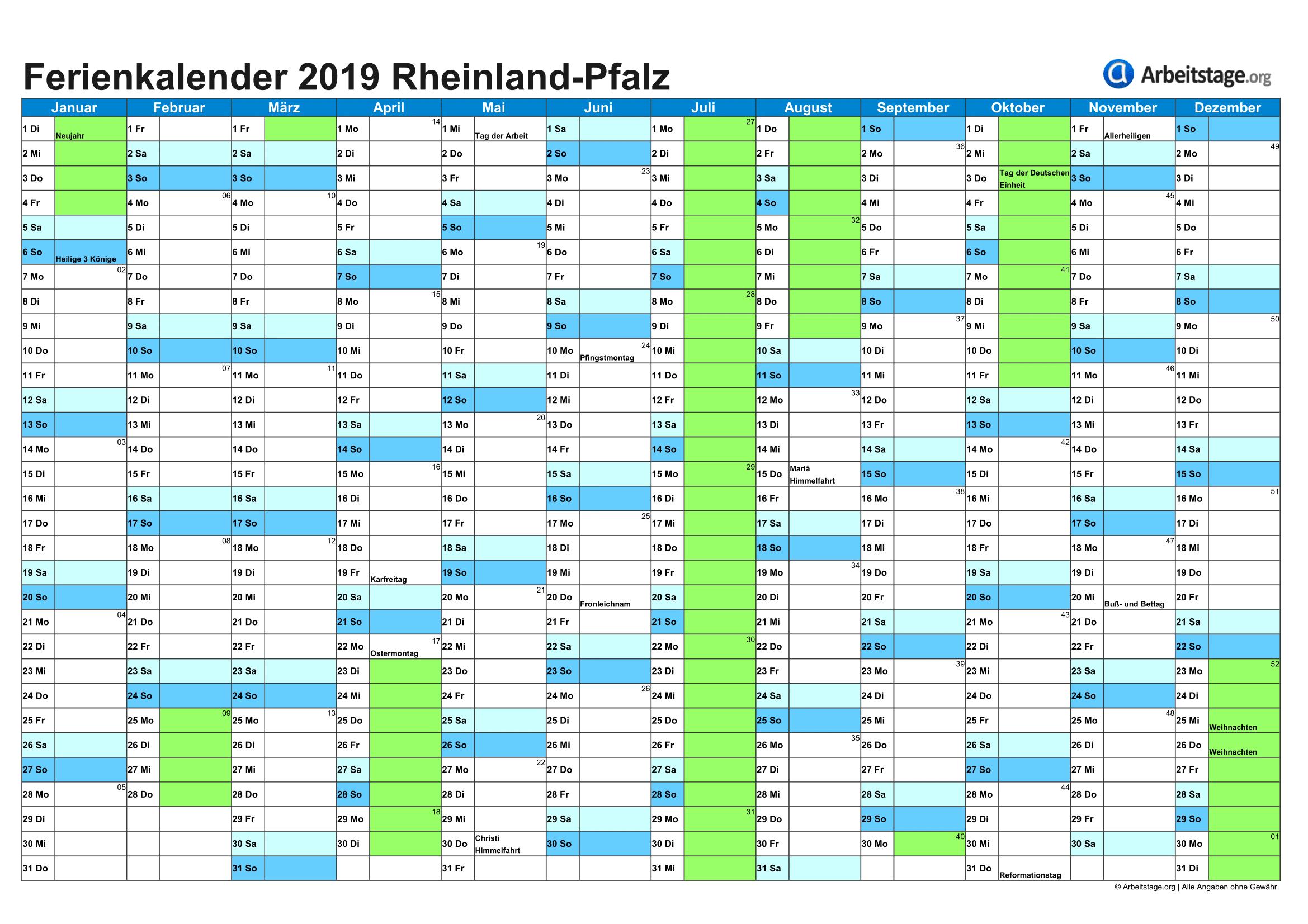 Ferien In Rheinland Pfalz 2019 2020 Termine Infos