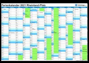 Ferienkalender 2021 Rheinland-Pfalz